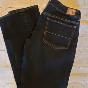 American Eagle Straight Stretch Jeans 8 Short